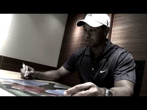 As the exclusive provider of Tiger Woods autographed memorabilia, go behind the scenes as Tiger signs a few items from his Upper Deck Authenticated product p...