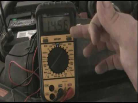 How to test your vehicles alternator using a multimeter.