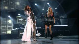 Carrie Underwood And Steven Tyler Undo It Walk This Way Acm Awards 2011