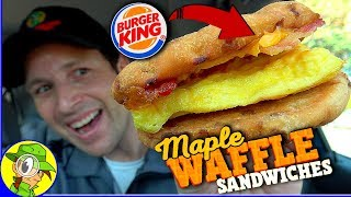 Burger King® | Bacon, Egg & Cheese Maple Waffle Sandwich Review 🥓🍁 | Peep THIS Out! 🍔👑