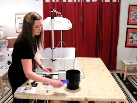 Indoor Hydroponic Garden Kit Setup