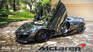 "How to Make ""McLaren"" Sign out of Wood (feat McLaren 600LT MSO)"