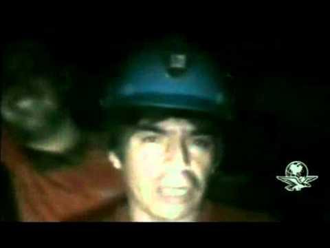 Mario, el periodista en el interior de la mina en Chile