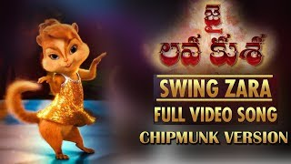 SWING ZARA Full Video Song - Chipmunk Version | Jr NTR, Tamannaah | DSP | Talking Tom Telugu
