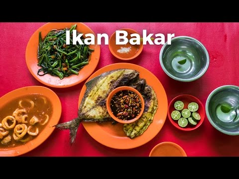 Ikan Bakar - Street Food Grilled Fish in Jakarta, Indonesia