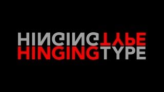 After Effects Tutorial: Motion Type: Hinging Type | Dan Stevers