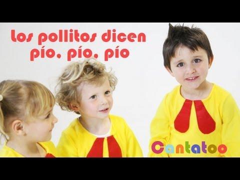 Los Pollitos dicen pio pio pio canciones infantiles Cantatoo