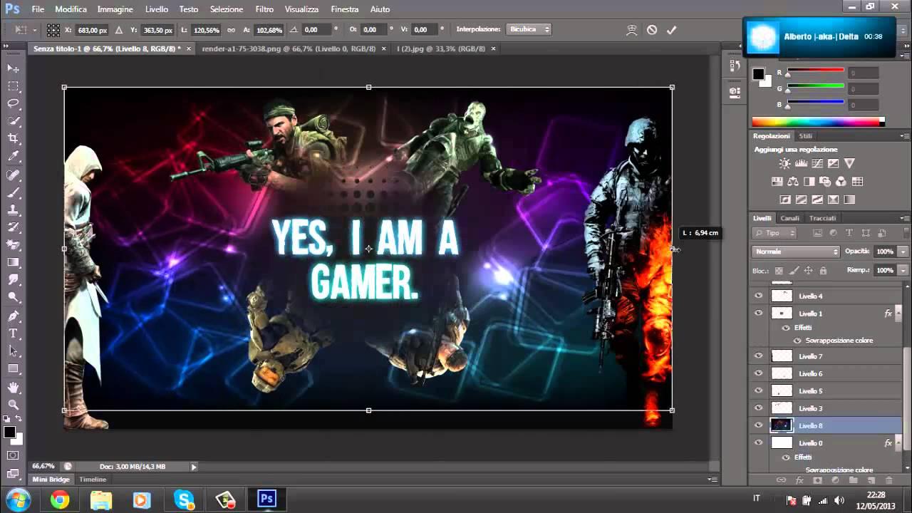I Am A Gamer Wallpaper Speedart | ''Yes, I am...