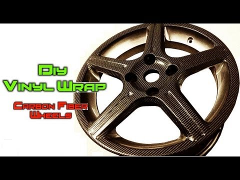 DIY Vinyl Wrapping ★ How to Carbon Fiber Car Wheels / Rims ★