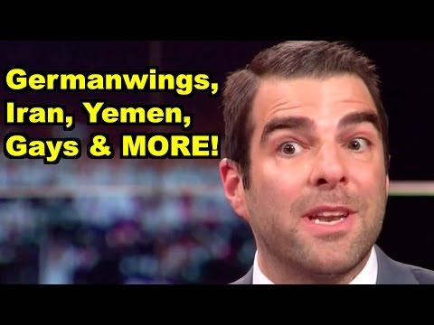 Germanwings, Iran, Gays - Zachary Quinto, Bill Maher & MORE! LiberalViewer Sunday Clip RoundUp 101