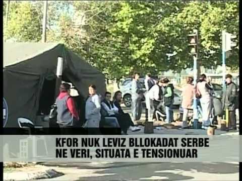 Betonohet barrikada në urën e Ibrit - Vizion Plus - News - Ljme