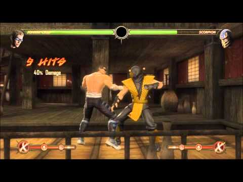 MK9-JOHNNY CAGE COMBOS+TUTORIALS