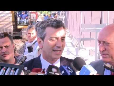 31 de OCT. Florencio Randazzo sobrevoló las obras de cambio de vía en ramal Rosario - Buenos Aires.