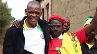 ANC SG Ace Magashule visits Kliptown (Soweto) as part of election work.