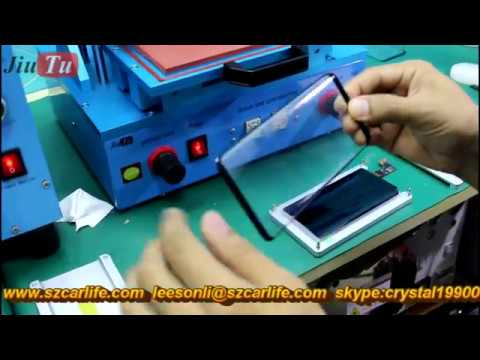 Samsung  Galaxy S8 S8+ Broken LCD OLED Glass Change Repair By Jiutu LCD Freezer & Custom Mold