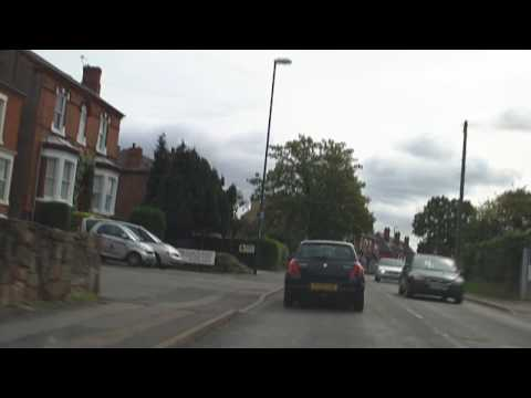 Drive to Betterboots, Derby Car Boot Sale via Chaddesden, Spondon, Borrowash in August 2009 HD
