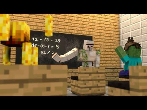 (FUNNY) Minecraft: Monster School- Top 5 Monster School Animations (2016) #3