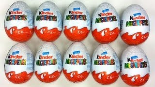 10 Kinder Surprise Unboxing Cool Toys