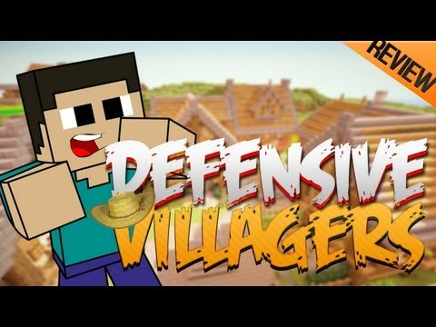 Minecraft de PC: Mod Review Defensive Villagers v1.0.5 para 1.5.1