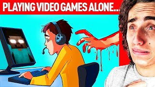 I Was Playing Video Games ALONE And Then This Happened.. (A True Story Animation)
