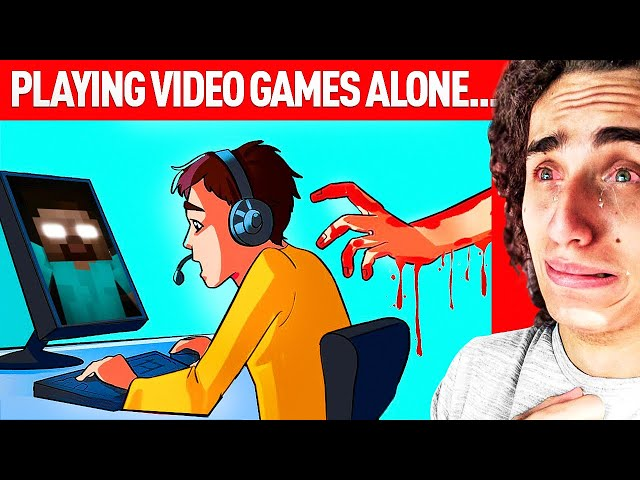 I Was Playing Video Games ALONE And Then This Happened.. A True Story Animation