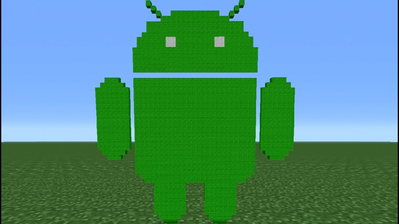 minecraft tutorial how to make the android logo youtube