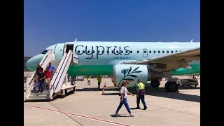 Flying Cyprus Airways in Economy - Flight CY121 from Beirut, Lebanon, to Larnaca Airport