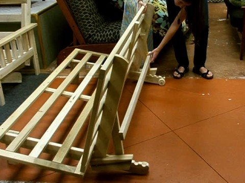 Bifold futon frame plans