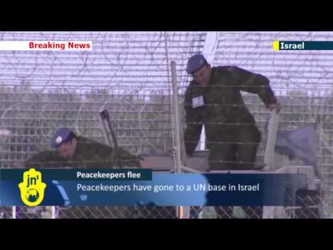 UN troops flee Syrian border: eight peacekeepers leave their posts in Syria and enter Israel