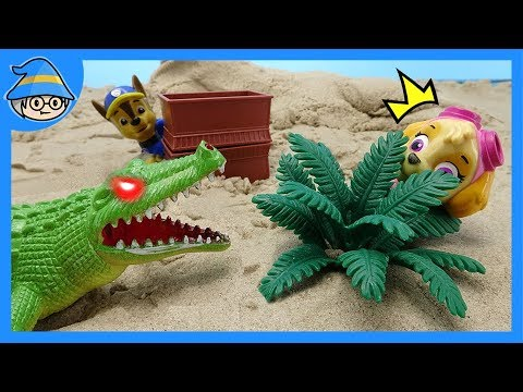 Paw Patrol play hide and seek. Hide from the monster!