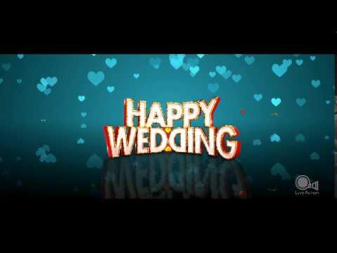 Liveaction Title Graphics HAPPY WEDDING