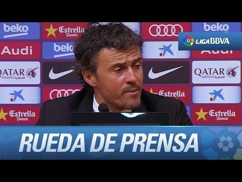 Rueda de prensa de Luis Enrique tras el FC Barcelona (2-1) Real Madrid