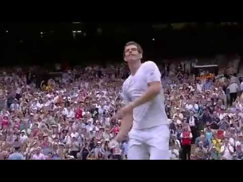 Andy Murray's match point v Goffin - Wimbledon 2014
