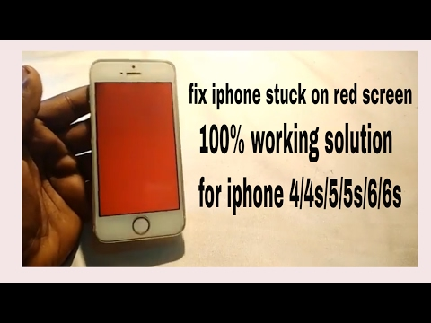 HOW TO FIX IPHONE STUCK ON RED SCREEN