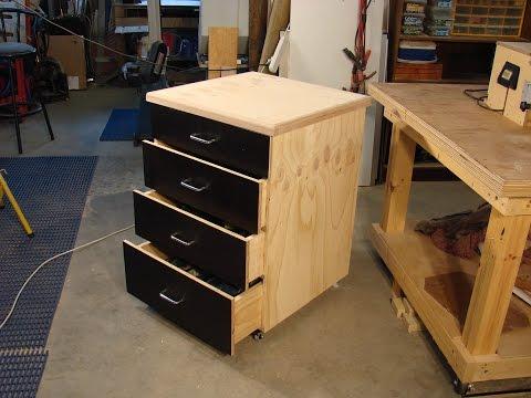60  Simple Dado & Plywood Rolling Shop Cabinet 1