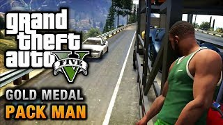 GTA 5 - GTA V Missions  - Pack Man [100% Gold Medal Walkthrough]