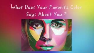What Your Favourite Color Says About You