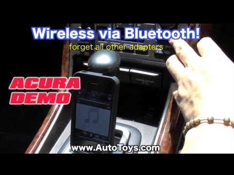 Acura TL CL w/ NAV IPOD, BLUETOOTH  & AUX MP3 Installation, GROM Audio by AutoToys.com