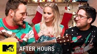 Jennifer Lawrence & Chris Pratt Have A Christmas Sleepover | After Hours