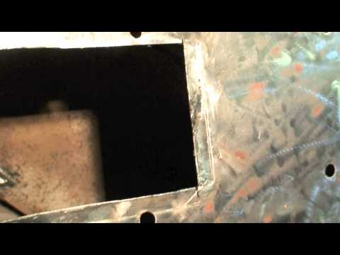 Autobody body patch repair on a 1957 chevy belair using a air flange tool