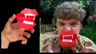 Halloween Origami + Vampire Mouth Tutorial