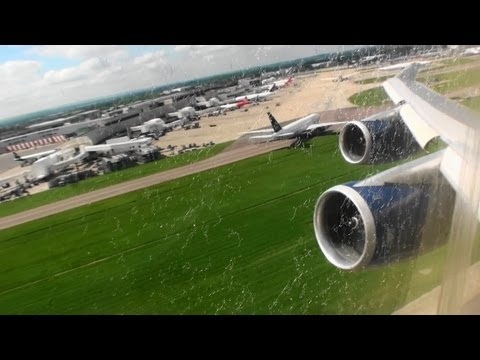 Utterly Fantastic British Airways HD 747-400 Takeoff From London Heathrow!!!