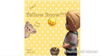 Why you shouldn't eat yellow snow...