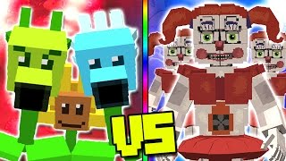 """PLANTS VS ZOMBIES"" VS ""FNAF SISTER LOCATION"" - Plants vs Zombies Mod Minecraft - TEAM PLANTS FIGHT!"