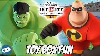 Hulk and Mr Incredible Disney Infinity 3.0 Toy Box Fun Gameplay