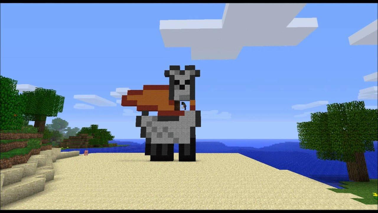 Minecraft Pixel Art: SuperLama! - YouTube