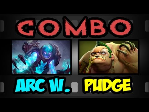 COMBO ARC WARDEN AND PUDGE DOTA 2