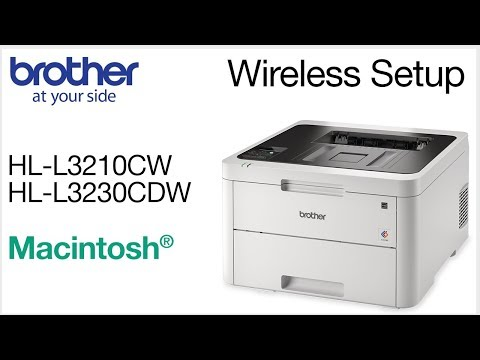 Connect HLL3230CDW to a wireless computer - Macintosh