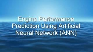 Engine performance prediction using artificial neural network