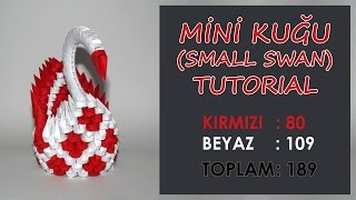 3D Origami Mini Kuğu Yapımı (Small Swan Tutorial)